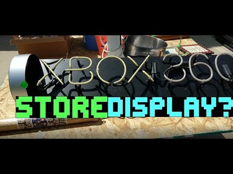 Live Garage Sale Finds! Xbox 360 Neon Store Display, 120GB Ipod for 75 cents, & GAMES! S2E7