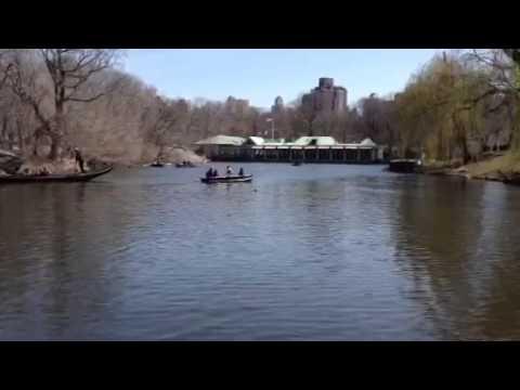 Boating on the Lake, Central Park Boathouse (with gondola).