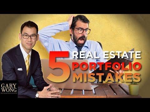 5 Biggest Real Estate Portfolio Mistakes