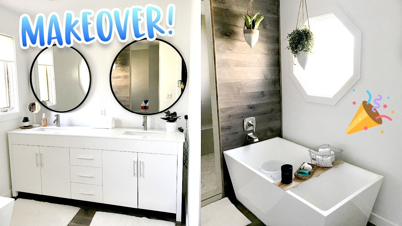 Bathroom Makeovers Pinterest pinterest inspired bathroom makeover! - youtube