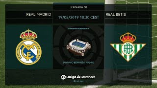 Calentamiento Real Madrid vs Real Betis