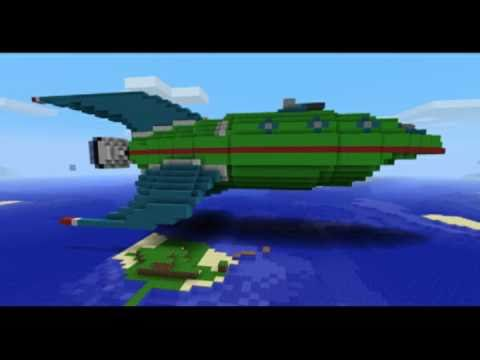 how to make a spaceship in minecraft