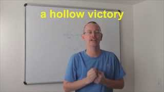 Learn English: Daily Easy English Expression 0602: a hollow victory
