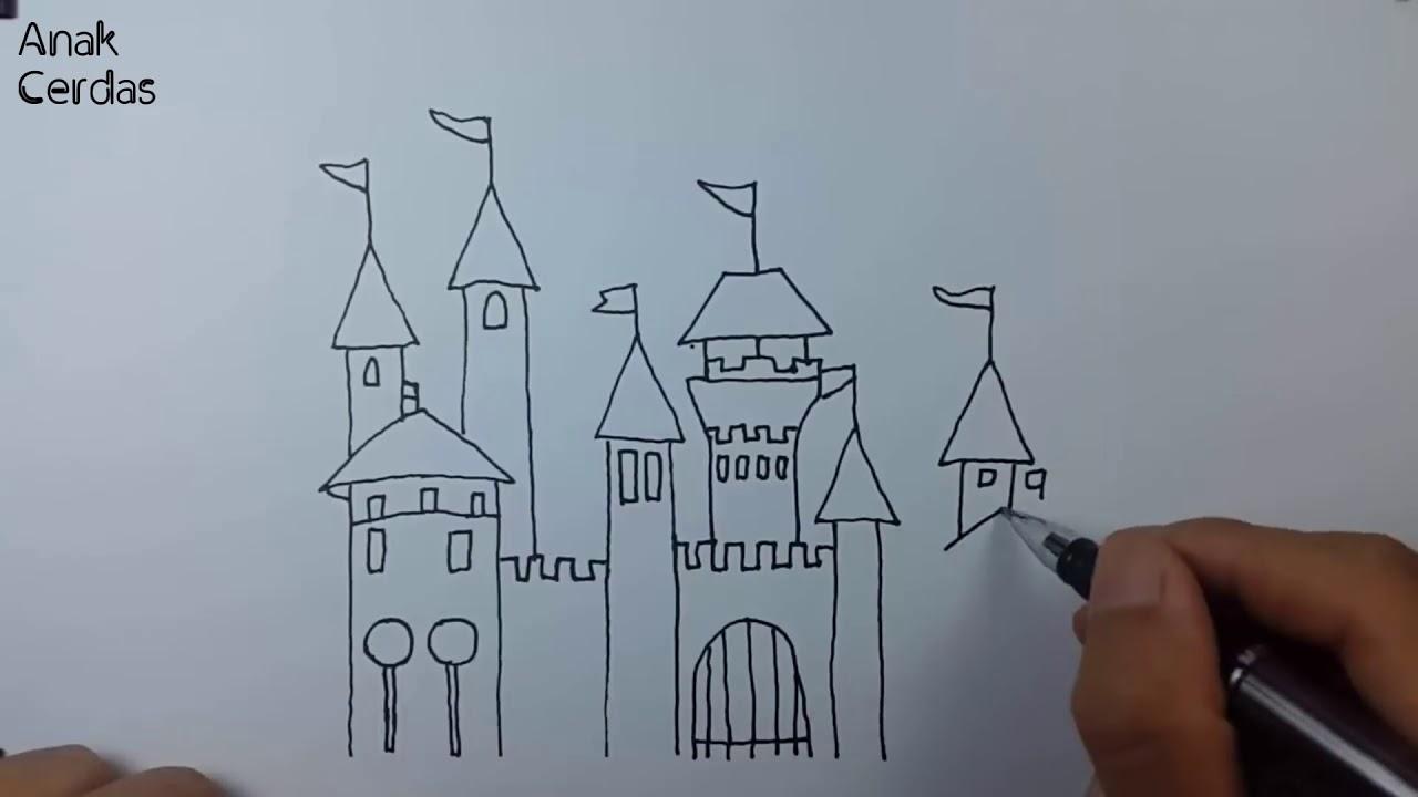 Belajar Menggambar dan Mewarnai Istana
