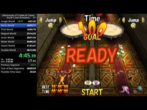 The Adventures of Cookie & Cream - Any% Co-op in 39:52.10 [World Record]