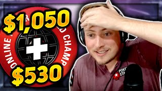 $1,050 WCOOP + $530 SUNDAY WARM UP!! | PokerStaples Stream Highlights