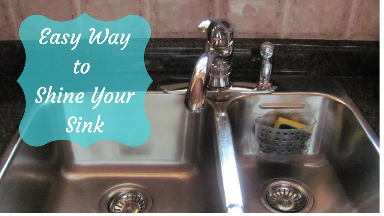 how to clean, disinfect and shine your sink the easy way - youtube