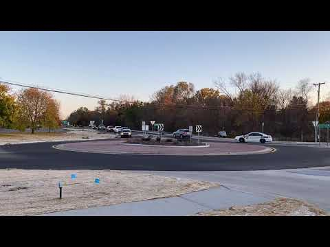 Roundabout Opens In Fenton Michigan