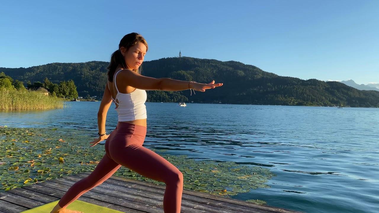 Yoga am Seerosensteg - Yoga direkt am Wörthersee