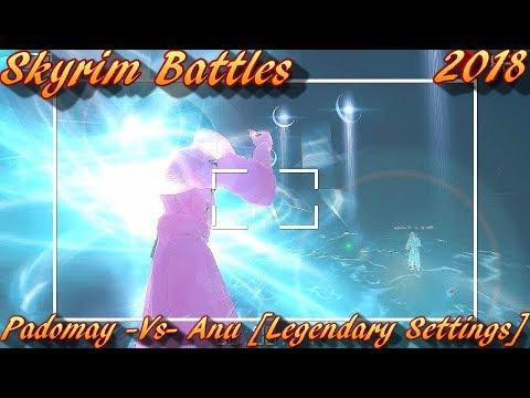 Skyrim Battles - Padomay vs Anu [Legendary Settings]