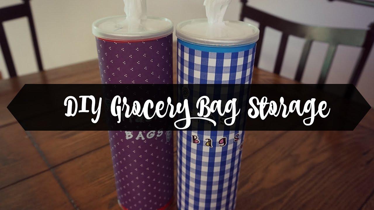 Reuse Pringle Can For Garbage Bag Storage // DIY
