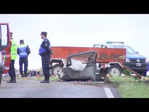 Impactantes imágenes del accidente fatal en Ruta 12