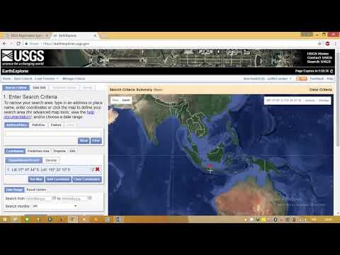Cara Mendownload Citra Landsat 8 OLI pada USGS