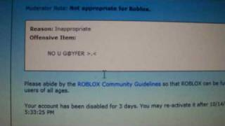 What I got banned for on roblox.