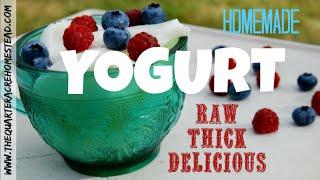 How to Make Raw Yogurt (thick, delicious, homemade DIY yogurt) Thumbnail