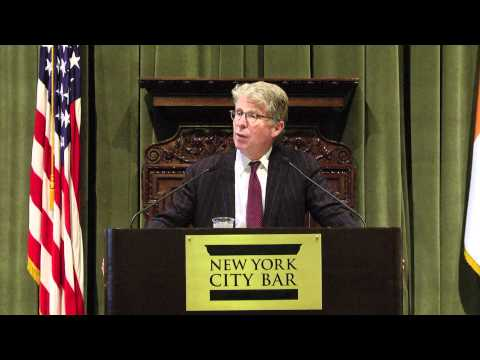 """""""The Conscience and Culture of a Prosecutor"""" - with Manhattan District Attorney Cyrus R. Vance, Jr."""