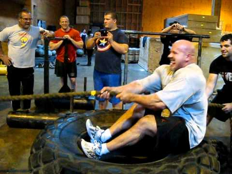 Stan Efferding (arm over arm pull of weighted sled)