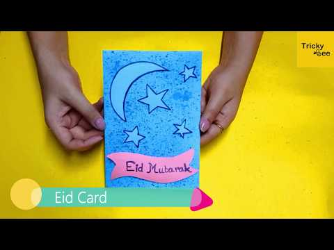 Diy How to Make Easy Handmade Eid Special card for kids & Beginners