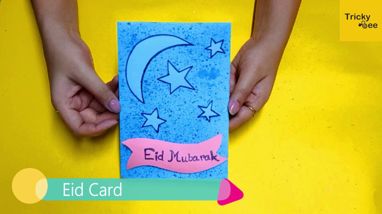 Diy How To Make Easy Handmade Eid Special Card For Kids Beginners