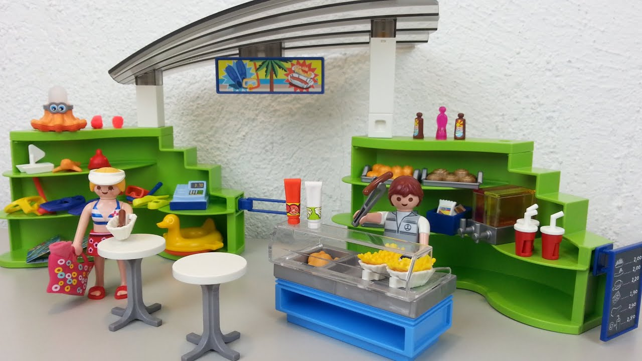 playmobil shop mit imbiss 6672 auspacken seratus1 aquapark unboxing youtube. Black Bedroom Furniture Sets. Home Design Ideas
