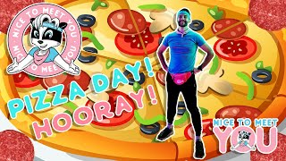 Pizza Day with Bert Badger | NICE TO MEET YOU | Pizza Learning