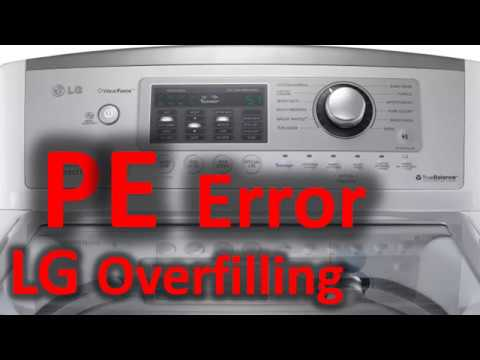 PE Error Code SOLVED!!! LG Top Loading Washer Washing Machine Overfilling