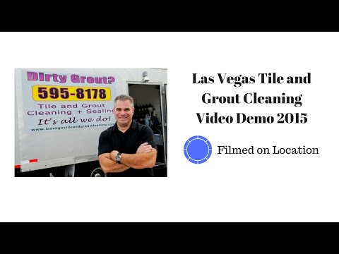 Las Vegas Tile and Grout Cleaning Video Demo 2015