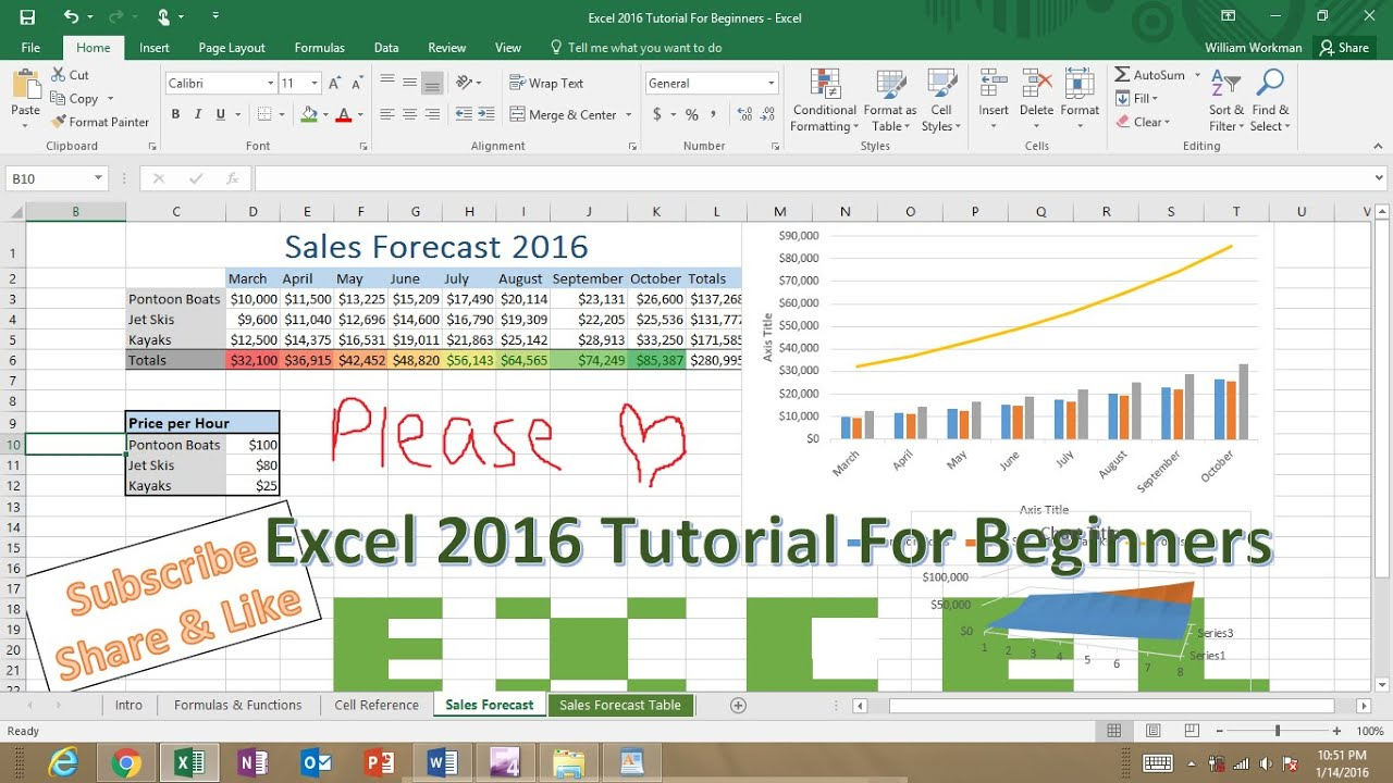 Microsoft Excel Tutorial For Beginners Excel Crash Course Refresher For Job Interviews