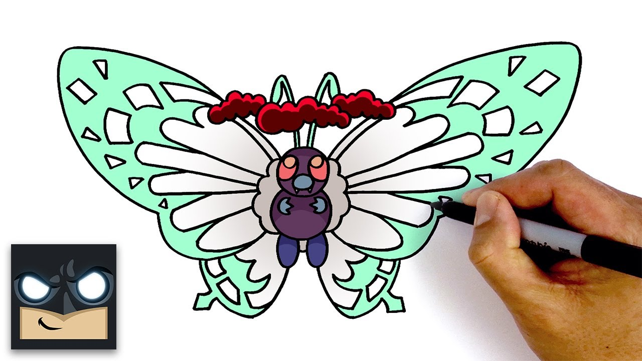 How To Draw Gigantamax Butterfree Pokemon Sword Shield Youtube