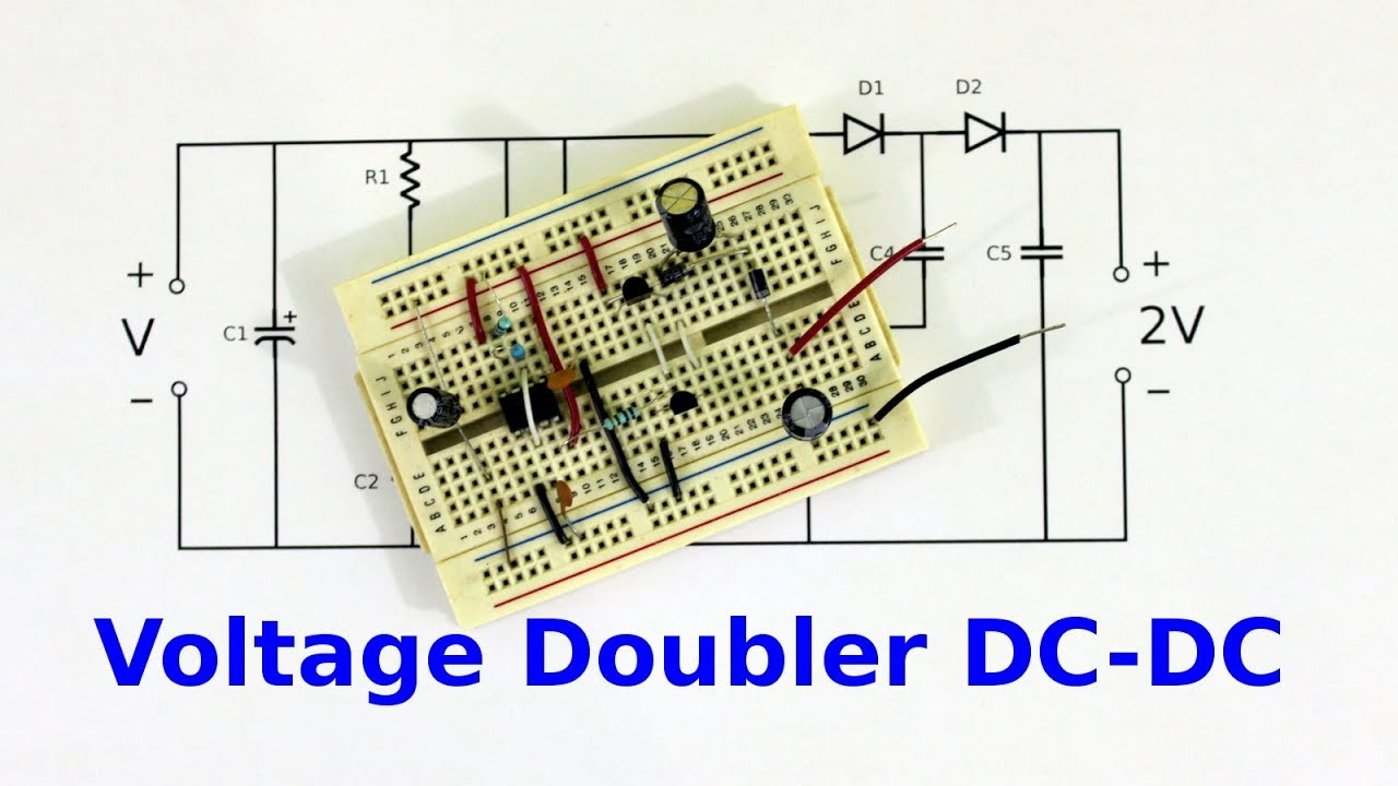 dc to dc voltage doubler with 555 timer youtube rh youtube com