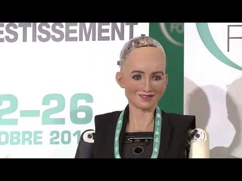 Robot Sophia on her Goals for the Future - World Investment Forum 2018