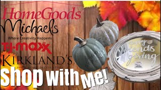 FALL DECOR SHOP WITH ME 2018 // TJ MAXX MICHAELS KIRKLANDS HOME GOODS