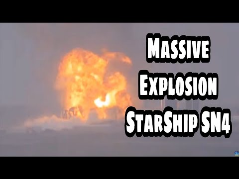 Starship SN4 Explosion In Different Angles//StarShip SN4 Static Fire Test Failed 29may2020/