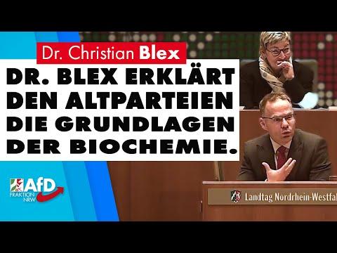 Dr. Blex erklärt den Altparteien die Grundlagen der Biochemie | Dr. Christian Blex (AfD)