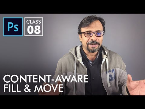 Content Aware Fill & Move Tool - Adobe Photoshop for Beginners - Class 8 - Urdu / Hindi
