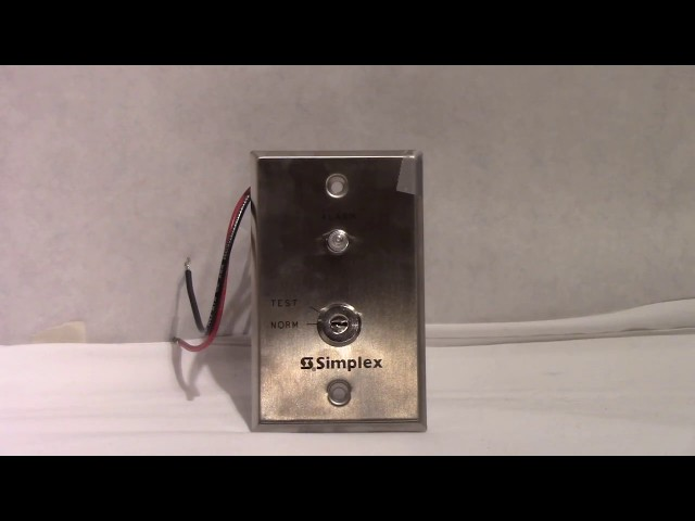 Simplex 2098-9806 Remote Fire Alarm LED Indicator/Key Switch Test Station Overview/Demo