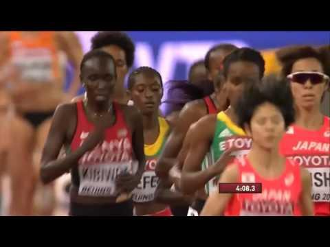 Almaz Ayana  during women's 5000m final – IAAF World Championships, Beijing 2015