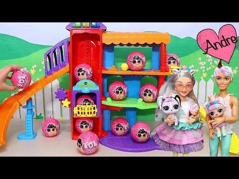 Familias LOL adoptan nuevas mascotas!!! Jugando muñecas y juguetes con Andre para niñas y niños
