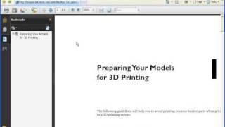 AutoCAD 2010 Demo: 3D Printing