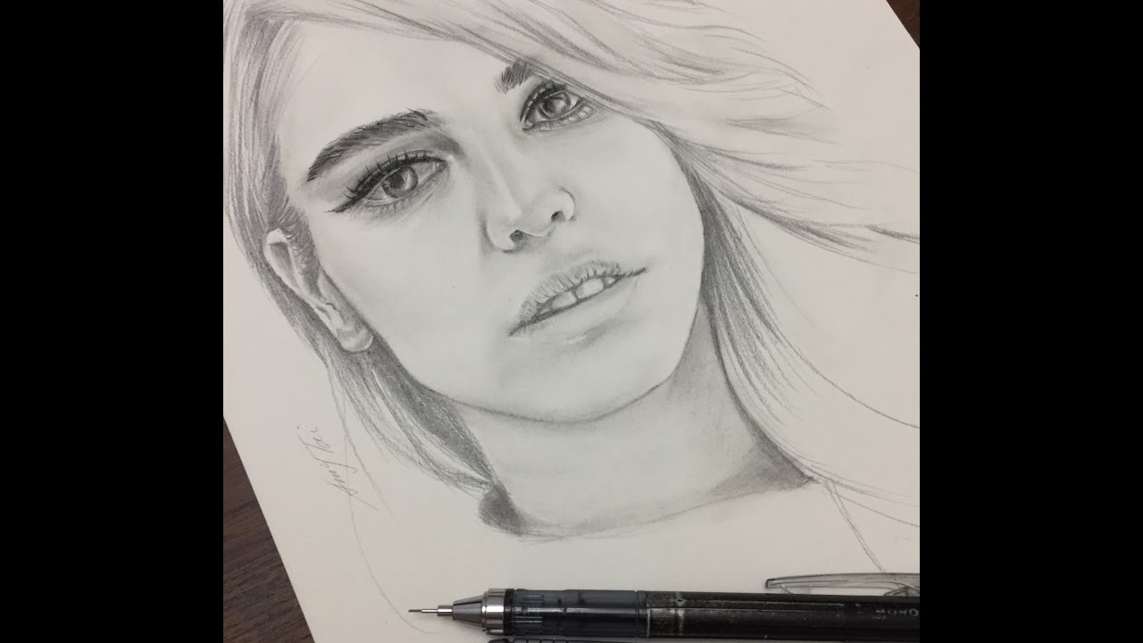 It is an image of Current Drawing Of Beautiful Girls