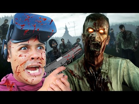 SHOOT ZOMBIES IN FIRST PERSON VIRTUAL REALITY!!! (Oculus Rift Games)
