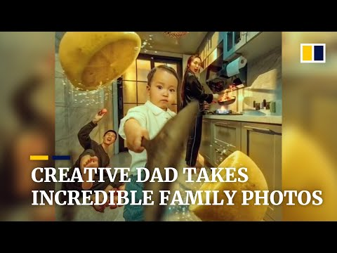 Creative dad takes incredible family photos in China