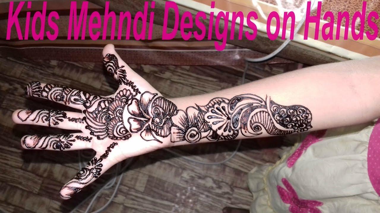 Mehndi Designs For Kids Simple Easy Way Mehndi Design 2017