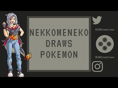 Blind Pokemon Drawing #1 With NekkoMeneko