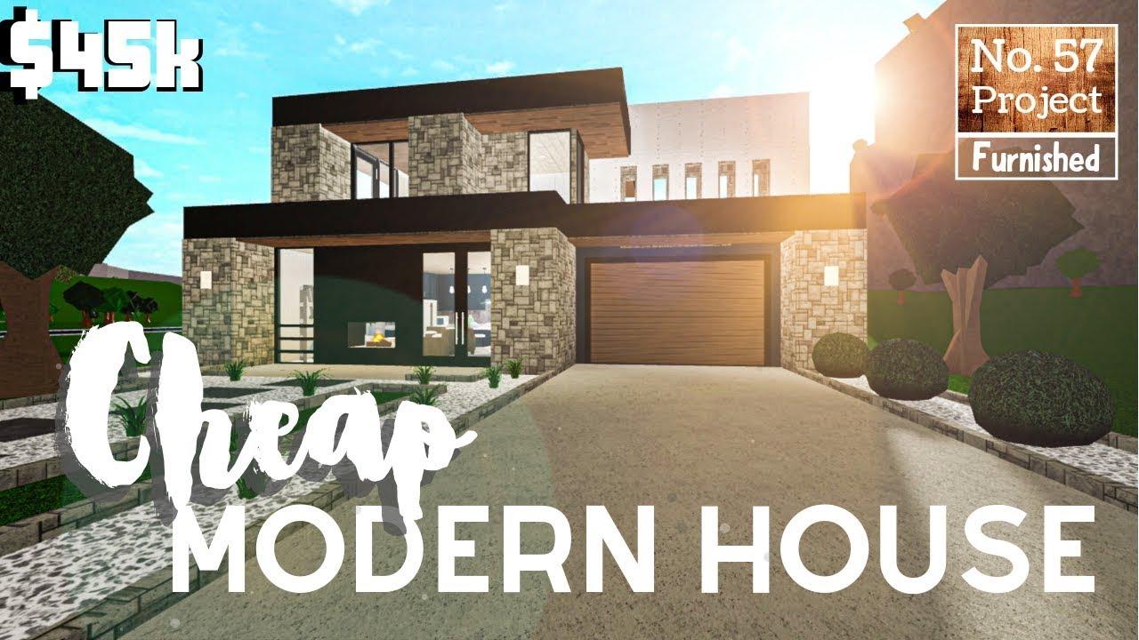 Modern Mansion Beginner Modern House Roblox Bloxburg Houses Bloxburg Build Cheap Modern Starter House Roblox 45k Youtube