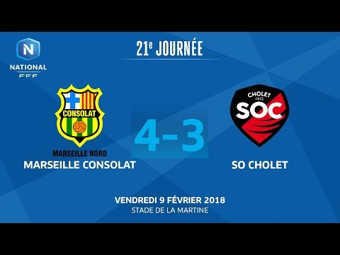 J21 : Marseille Consolat - So Cholet (4-3), le replay I FFF 2018