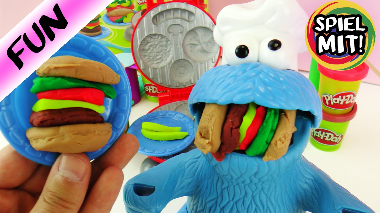 Play Doh Küche Müller Play Doh Burger Party Mit Play Doh Krümelmonster Hamburger Selber