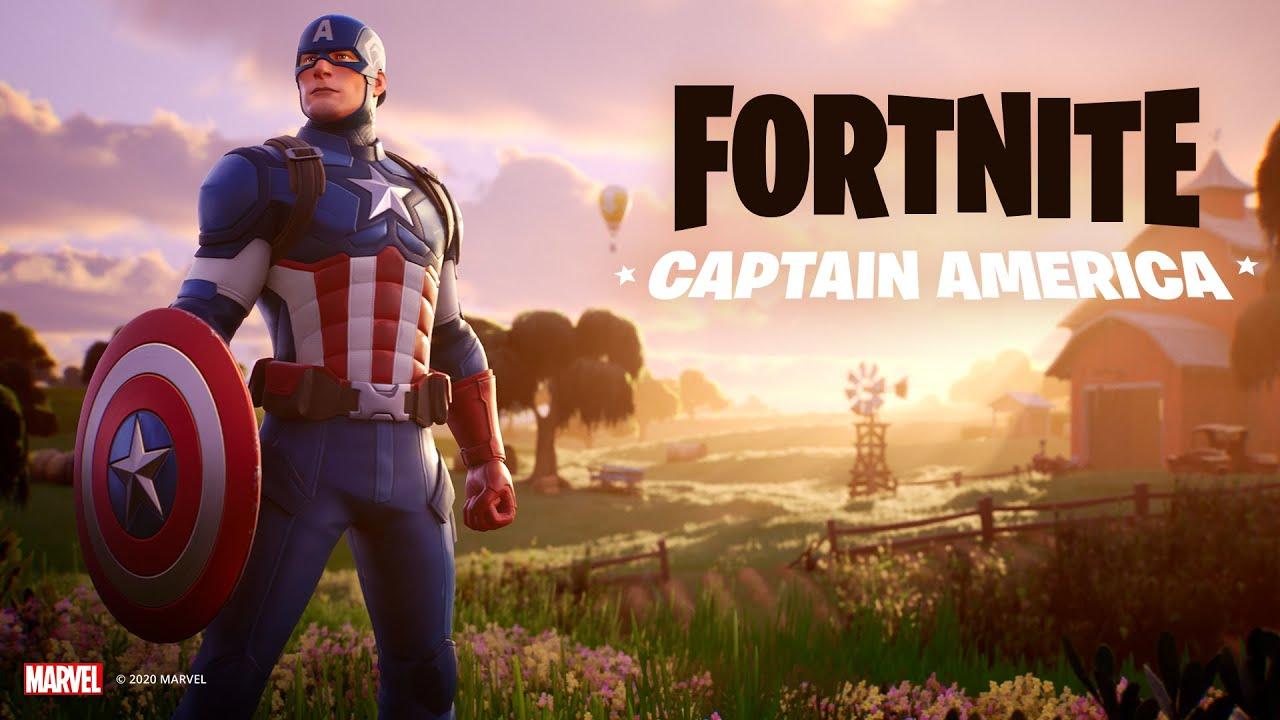 Captain America arrive | Fortnite