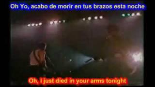 Cutting Crew  - I Just Died In Your Arms  ( SUB  EN  ESPAÑOL &  INGLES   LYRICS  LETRAS SUB)