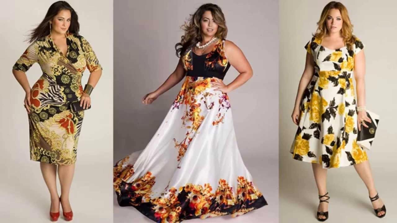 modelos de vestidos estampados para plus size 2017 youtube